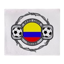 Colombia Soccer Throw Blanket