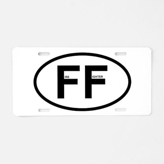 FF - Fire Fighter Aluminum License Plate