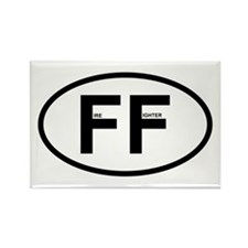 FF - Fire Fighter Rectangle Magnet