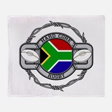 Hard Core South Africa Rugby Throw Blanket