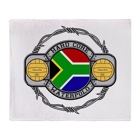 South Africa Water Polo Throw Blanket