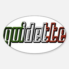 guidette flag 3 Sticker (Oval)