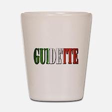 guidette flag 4 Shot Glass