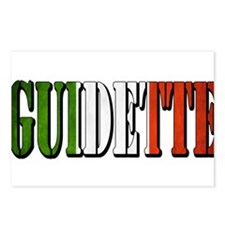 guidette flag 4 Postcards (Package of 8)