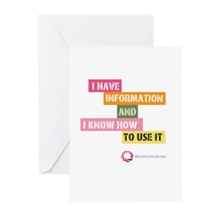 I Have Info Greeting Cards (Pk of 10)