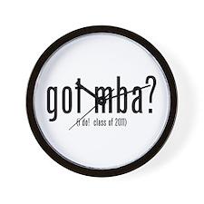 got mba? (i do! class of 2011) Wall Clock