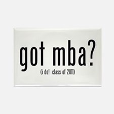got mba? (i do! class of 2011) Rectangle Magnet