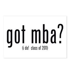 got mba? (i do! class of 2011) Postcards (Package
