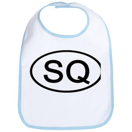 SQ - Initial Oval Bib