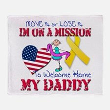 Welcome Home Daddy Throw Blanket