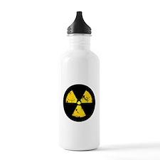 Distressed Radiation Symbol Sports Water Bottle