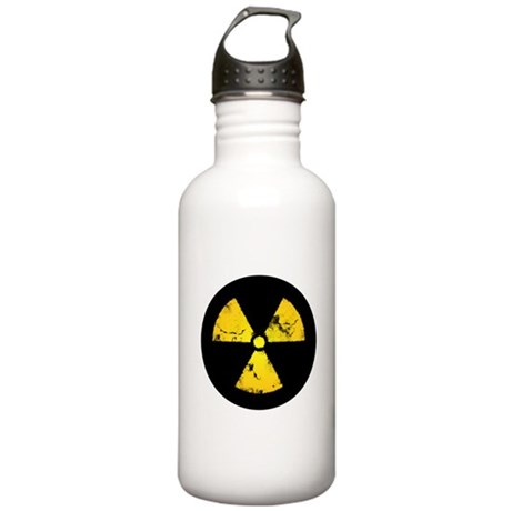 Distressed Radiation Symbol Stainless Water Bottle