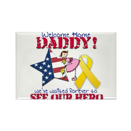 Welcome Home Daddy Rectangle Magnet (10 pack)