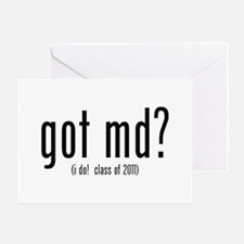 got md? (i do! class of 2011) Greeting Card