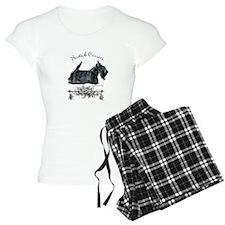 Scottish Terrier Profile Pajamas