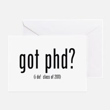 Phd Thesis Greeting Cards   Card Ideas  Sayings  Designs  amp  Templates got phd   i do  class of       Greeting Card