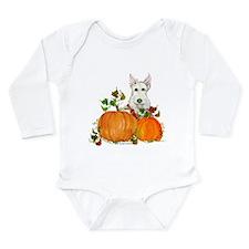 Autumn Scottie Wheaten Long Sleeve Infant Bodysuit