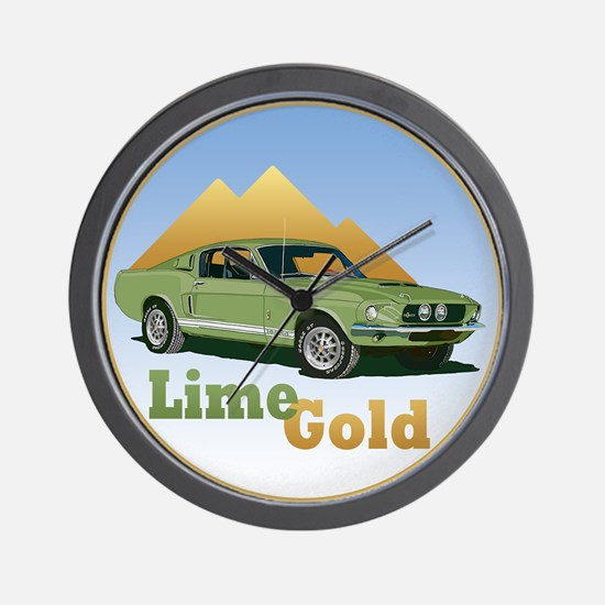 The Lime Gold Wall Clock