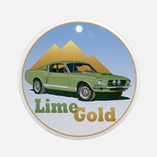 The Lime Gold Ornament (Round)