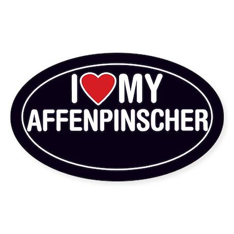 I Love My Affenpinscher Oval Sticker/Decal
