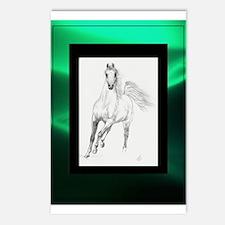 Freedom Trotting Arabian Green Postcards (Package