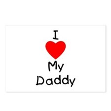 I love my daddy Postcards (Package of 8)