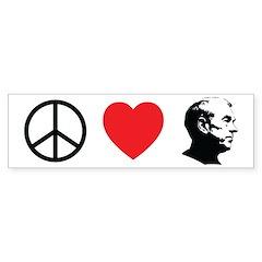 Peace Love Ron Paul Bumper Sticker