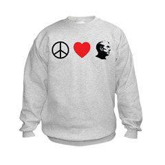 Peace Love Ron Paul Sweatshirt