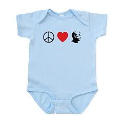 Peace Love Ron Paul Infant Bodysuit