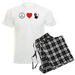 Peace Love Ron Paul Men's Light Pajamas