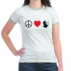Peace Love Ron Paul Jr. Ringer T-Shirt