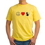 Peace Love Ron Paul Yellow T-Shirt