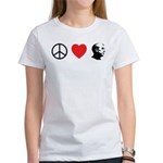 Peace Love Ron Paul Women's T-Shirt