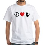 Peace Love Ron Paul White T-Shirt