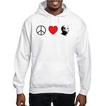 Peace Love Ron Paul Hooded Sweatshirt