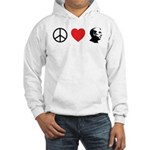 Peace Love Ron Paul Hooded Sweatshirt