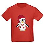 Santa Claus Penguin Kids Dark T-Shirt