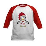 Santa Claus Penguin Kids Baseball Jersey