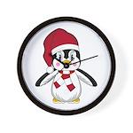 Santa Claus Penguin Wall Clock