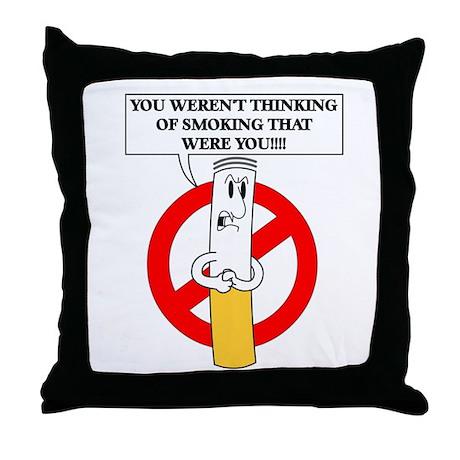 Don't smoke it Throw Pillow