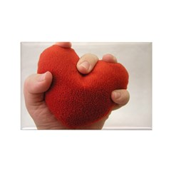 Holding my heart in your hand Rectangle Magnet (10