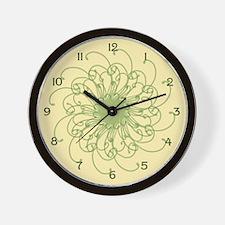 Yellow Wisp Wall Clock