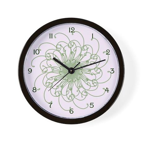 Pink Wisp Wall Clock
