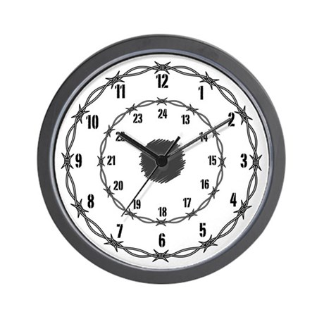 White Barbed Wire Wall Clock