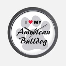 American Bulldog Wall Clock