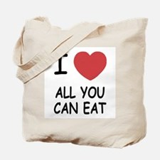 I heart all you can eat Tote Bag