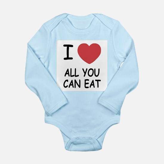 I heart all you can eat Long Sleeve Infant Bodysui