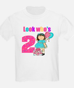 Look who's 2 girl T-Shirt