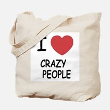I heart crazy people Tote Bag