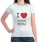 I heart funny people Jr. Ringer T-Shirt